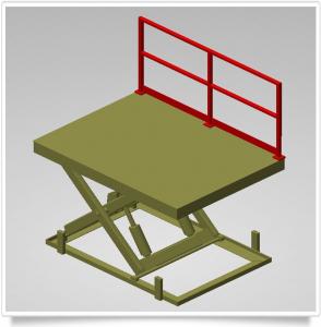 Scherenhubtisch mit Geländer, geschraubt oder steckbar